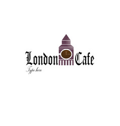 london coffee logo vector image