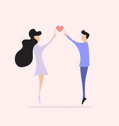 love couple girl and boy flying romantic story vector image