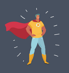 man in super hero costumes front view vector image