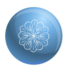 medicine flower icon simple style vector image