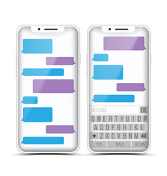 Messenger speech bubbles phone chat vector