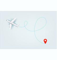 Modern aircraft path summer travel vector