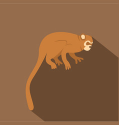 Monkey icon flat style vector