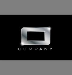 O silver metal letter company design logo vector