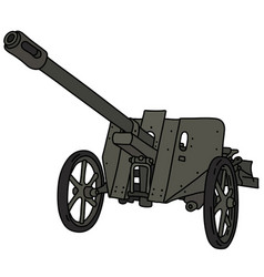 Old gray field cannon vector