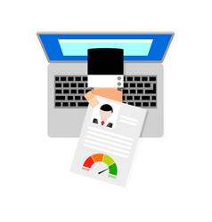 Online loan request vector