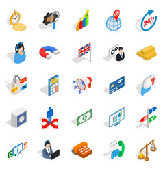 Plan icons set isometric style vector