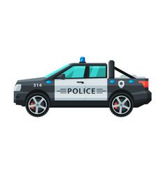 police off road vehicle emergency patrol vector image