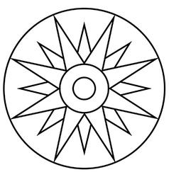 Radiating floral sun vector