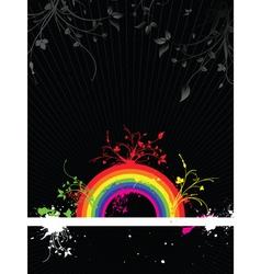 rainbow grunge vector image