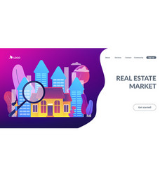 real estate concept landing page vector image