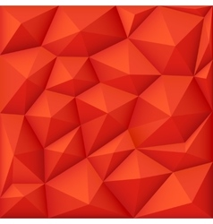 Red 3d polygon background modern origami vector