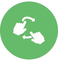 Rotate with Two Hands vector image