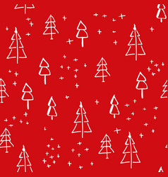 scandinavian seamless pattern of christmas vector image