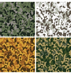 set camouflage seamless textures vector image