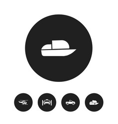 set of 5 editable shipment icons includes symbols vector image