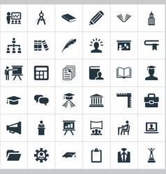 Set of simple speaker icons elements training vector
