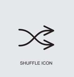 Shuffle icon vector