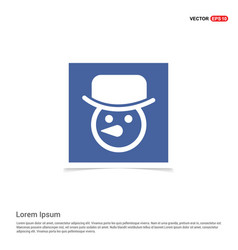 snowman icon - blue photo frame vector image