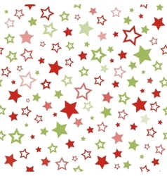 Stars pattern Seamless christmas background vector
