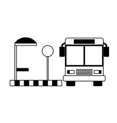 station autobus stop lamp wait vector image