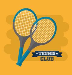 tennis club rackets sport equipment vector image