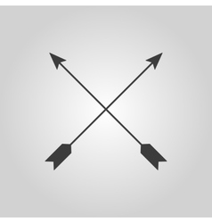 The arrow icon Arrows symbol Flat vector image