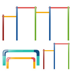 Uneven bars in two designs vector