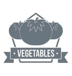 vegetables logo simple style vector image