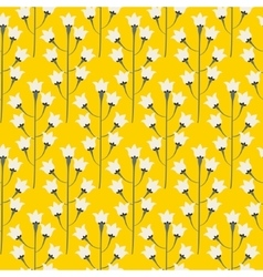 Wild bluebell bright yellow flower spring field vector image
