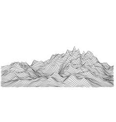 wireframe polygonal landscape vector image