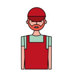 Young barista man vector