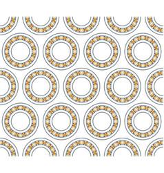 ball bearing pattern vector image vector image