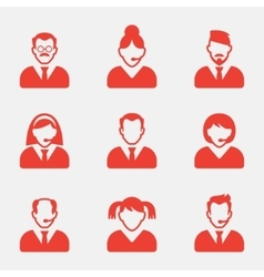 Business people avatar icons vector image vector image