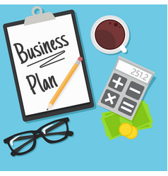 business planning banner vector image vector image