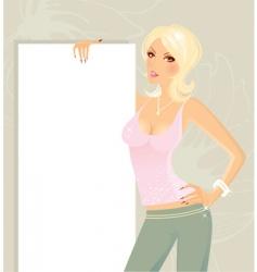 present girl vector image vector image