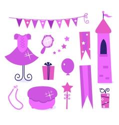 princess party elements vector image vector image