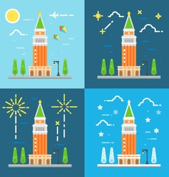 Saint Marks campanile flat design vector image vector image