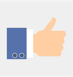 thumbs up hand vector image