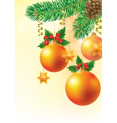 Christmas card with spruce vector image