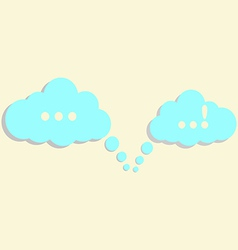 communication clouds vector image vector image