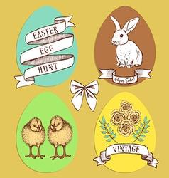 Easter edd hunt set vector image vector image