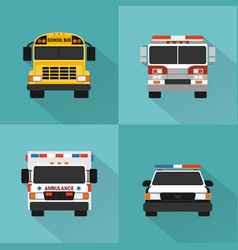 flat concept service cars set vector image