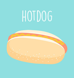 fresh hot dog graphic vector image vector image