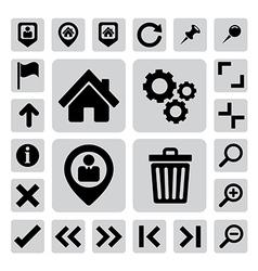 Internet icons set eps 10 vector image