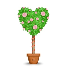 love tree in a pot vector image