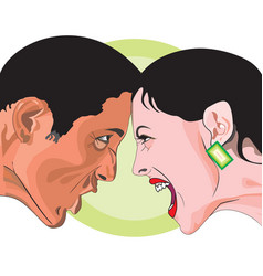 man and woman fighting vector image vector image