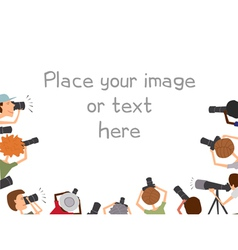 many photographers taking pictures vector image vector image