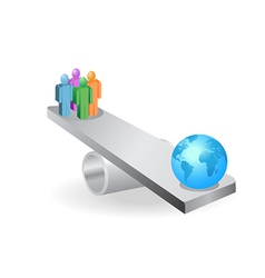 people balance with earth vector image