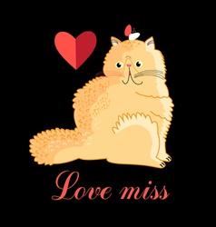 Persian cat in love vector image vector image